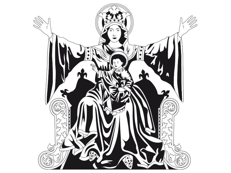 Vierge aux bras étendus - Notre Dame de Strasbourg